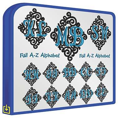ABC Adorn Duo Monogram