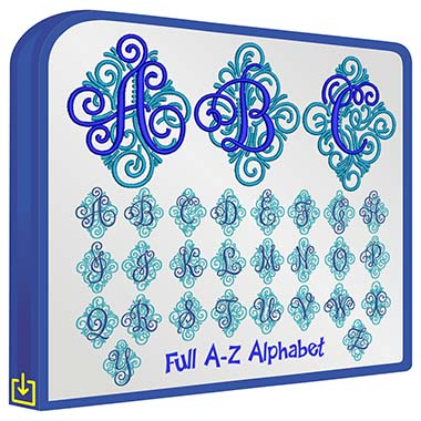 ABC Adorn Ornamental Monogram
