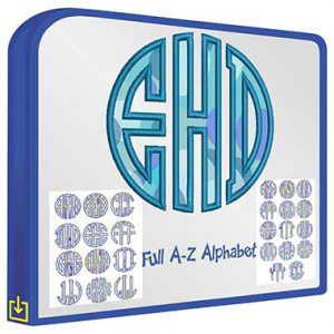 ABC Circle Applique Monogram