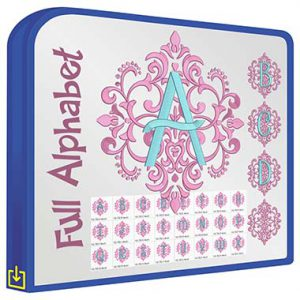 ABC Elegant Damask Monogram