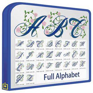 ABC Floral Script V1