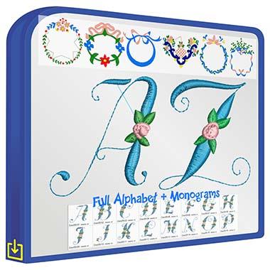 ABC Floral Script V2