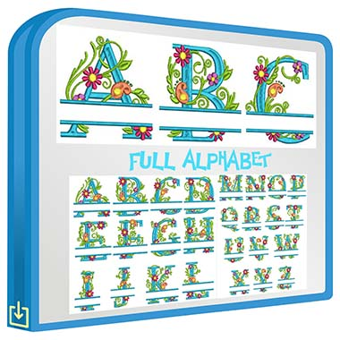 ABC Split Floral Monogram
